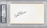 Bob Gibson Autographed Index Card (PSA) *6107