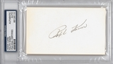 Ralph Kiner Autographed Index Card (PSA) *6110