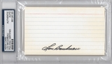 Lou Boudreau Autographed Index Card (PSA) *6120