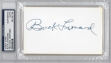 Buck Leonard Autographed Index Card (PSA) *6125