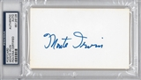 Monte Irvin Autographed Index Card (PSA) *6126