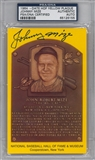 Johnny Mize Autographed HOF Plaque (PSA) *6155