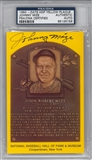Johnny Mize Autographed HOF Plaque (PSA) *6156