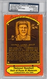George Kelly Autographed HOF Plaque (PSA)