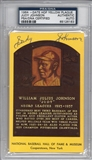 Judy Johnson Autographed HOF Plaque (PSA)