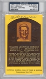 Billy Herman Autographed HOF Plaque (PSA) *6172