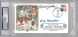 "Travis Jackson & AB ""Happy"" Chandler Autographed First Day Cover (PSA)"