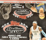 2007/08 Topps Stadium Club Basketball 24 Pack Box
