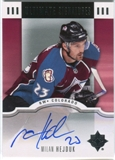 2007/08 Upper Deck Ultimate Collection Signatures #USHE Milan Hejduk Autograph