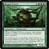 Magic the Gathering Eventide Single Regal Force UNPLAYED (NM/MT)