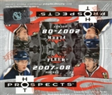 2007/08 Fleer Hot Prospects Hockey 24-Pack Box