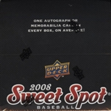 2008 Upper Deck Sweet Spot Baseball Hobby Box