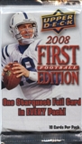 2008 Upper Deck 1st Edition Football Pack