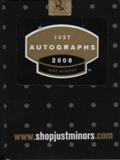 2008 Just Minors Just Autographs Baseball Factory Set (Box)