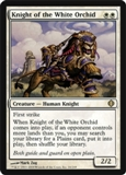 Magic the Gathering Shards of Alara Single Knight of the White Orchid Foil