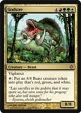 Magic the Gathering Shards of Alara Single Godsire Foil