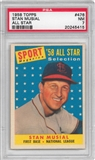 1958 Topps Baseball #476 All Star Stan Musial PSA 7 (NM) *5415