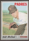 1970 Topps Baseball #314 Bill McCool Signed in Person Auto