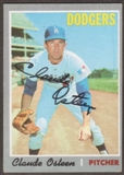 1970 Topps Baseball #260 Claude Osteen Signed in Person Auto
