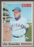 1970 Topps Baseball #291 Leo Durocher Signed in Person Auto