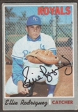 1970 Topps Baseball #402 Ellie Rodriguez Signed in Person Auto