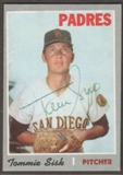 1970 Topps Baseball #374 Tommie Sisk Signed in Person Auto