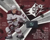 2008/09 Upper Deck SPx Hockey Hobby Box