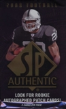 2008 Upper Deck SP Authentic Football Hobby Pack