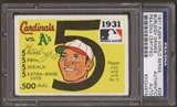 1971 Fleer World Series Burleigh Grimes #29 Autographed Card PSA Slabbed (4974)