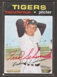1971 Topps Baseball #316 Fred Sherman Signed in Person Auto