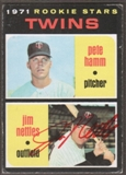 1971 Topps Baseball #74 Jim Nettles Signed in Person Auto