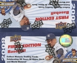 2009 Upper Deck First Edition Baseball Hobby Box