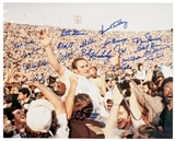 1972 Miami Dolphins Team Autographed 16x20 Football Photo 18 signatures