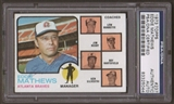 1973 Topps Eddie Mathews #237 Autographed Card PSA Slabbed (237)