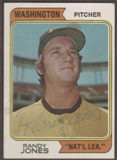 1974 Topps Baseball #173 Randy Jones Signed in Person Auto