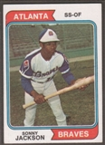 1974 Topps Baseball #591 Sonny Jackson Signed in Person Auto