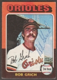 1975 Topps Baseball #225 Bob Grich Signed in Person Auto