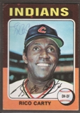 1975 Topps Baseball #655 Rico Carty Signed in Person Auto