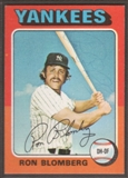 1975 Topps Baseball #68 Ron Blomberg Signed in Person Auto