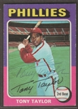 1975 Topps Baseball #574 Tony Taylor Signed in Person Auto