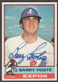 1976 Topps Baseball #42 Barry Foote Signed in Person Auto