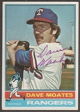 1976 Topps Baseball #327 Dave Moates Signed in Person Auto