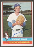 1976 Topps Baseball #124 Doug Rau Signed in Person Auto