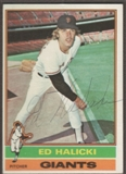 1976 Topps Baseball #423 Ed Halicki Signed in Person Auto