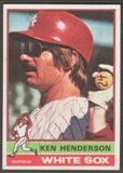 1976 Topps Baseball #464 Ken Henderson Signed in Person Auto