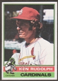 1976 Topps Baseball #601 Ken Rudolph Signed in Person Auto (B)