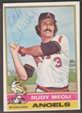 1976 Topps Baseball #254 Rudy Meoli Signed in Person Auto