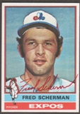 1976 Topps Baseball #188 Fred Scherman Signed in Person Auto (A)