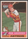 1976 Topps Baseball #568 Rob Andrews Signed in Person Auto