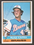 1976 Topps Baseball #153 Buzz Capra Signed in Person Auto